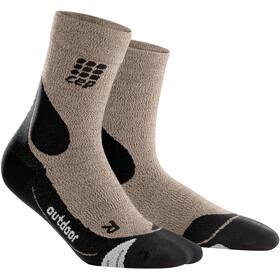 cep Dynamic+ Outdoor Merino Calcetines de corte medio Hombre, sand dune/black